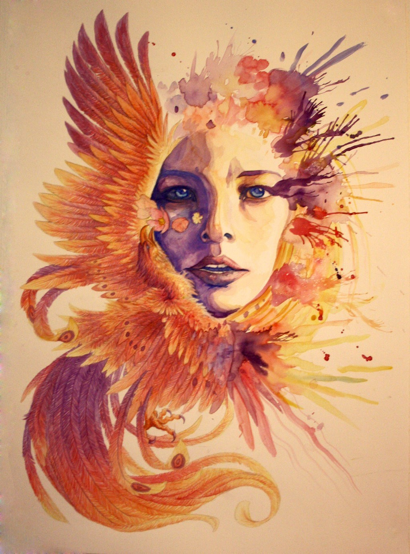 3d Wallpaper Water Drop Artwork Face Watercolor Birds Paint Splatter Wallpapers Hd