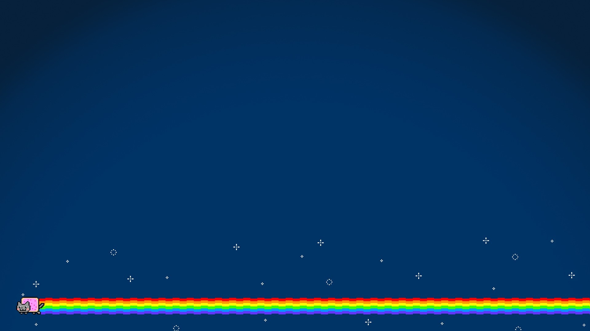 Krishna 3d Wallpaper For Mobile Nyan Cat Simple Background Blue Rainbows Cat Wallpapers Hd
