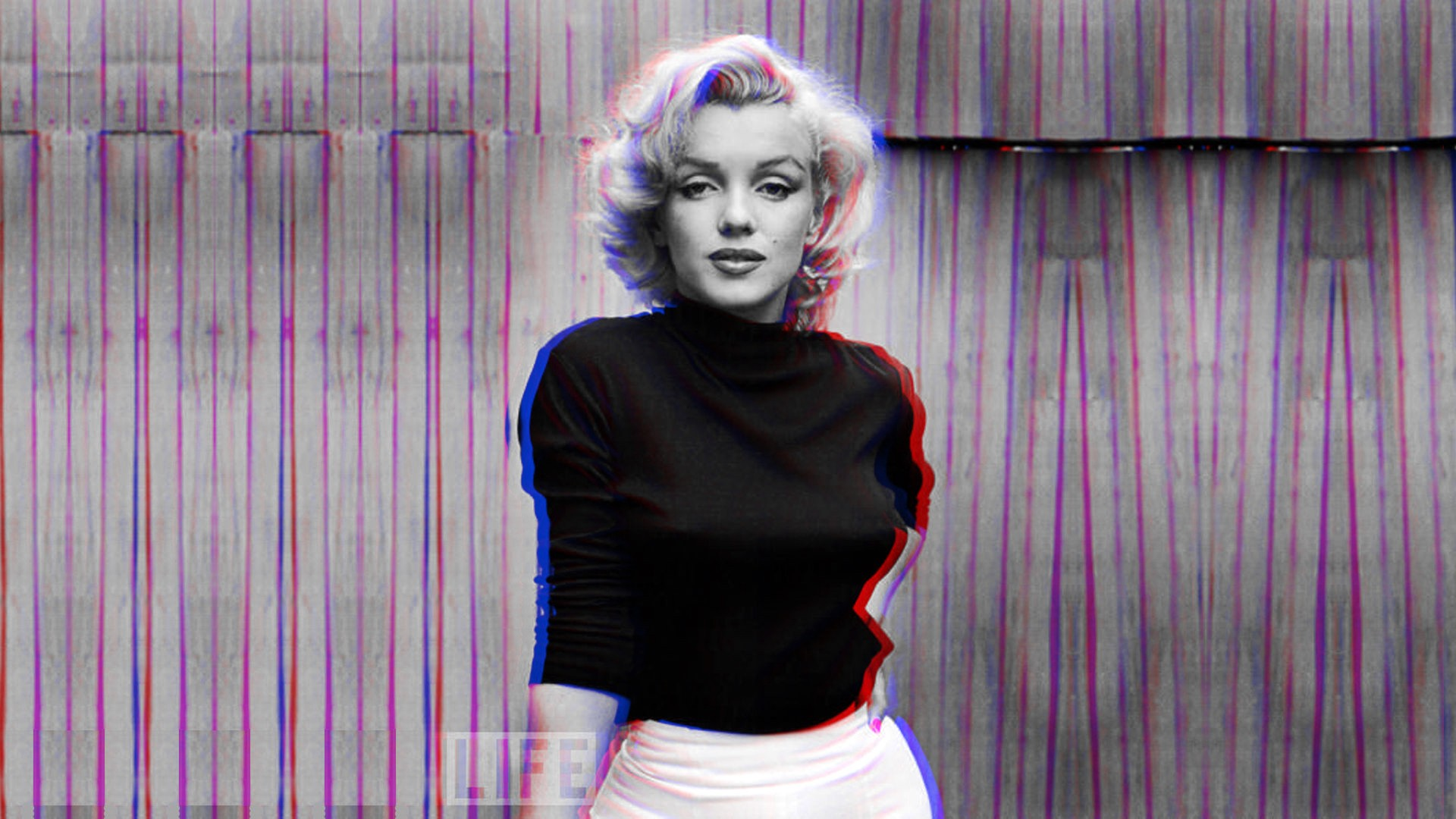 3d Anaglyph Wallpaper Desktop Anaglyph 3d Marilyn Monroe Wallpapers Hd Desktop And