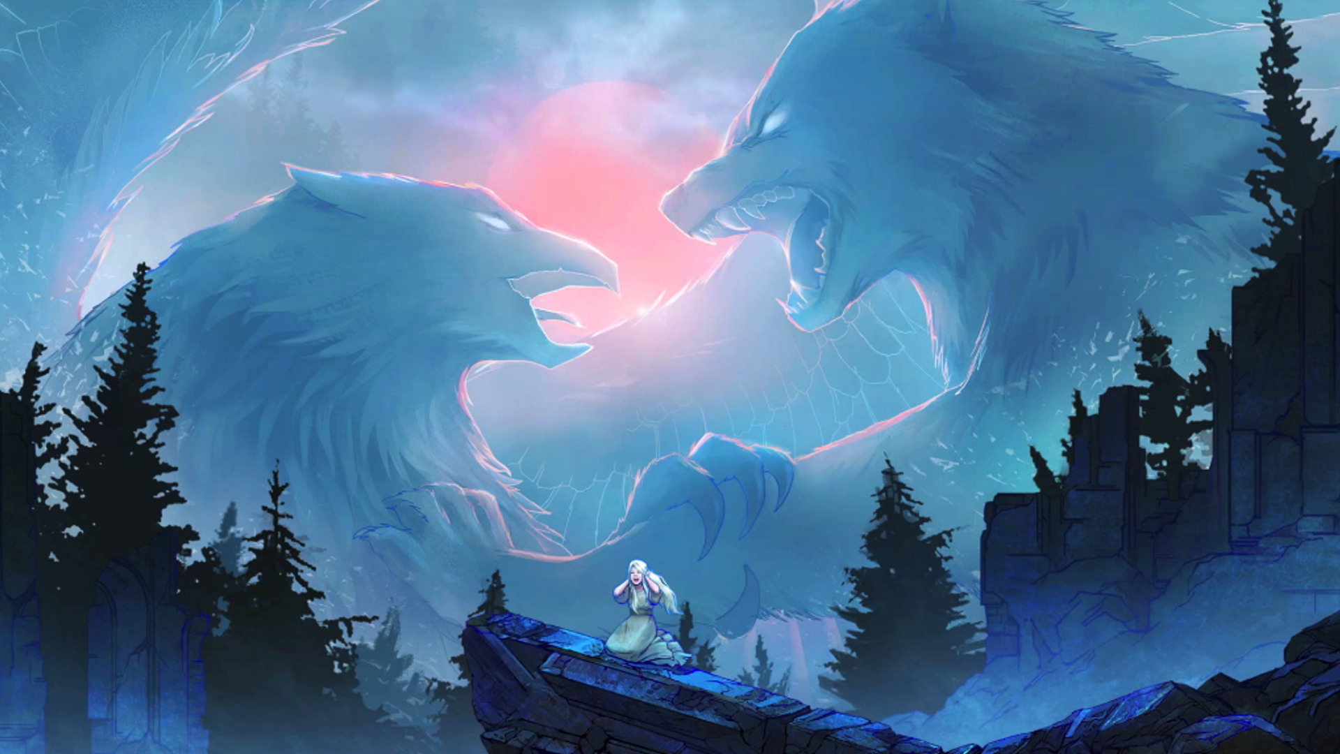 Ice Wolf 3d Wallpaper Snow Titans Eagle Wolf Wallpapers Hd Desktop And Mobile