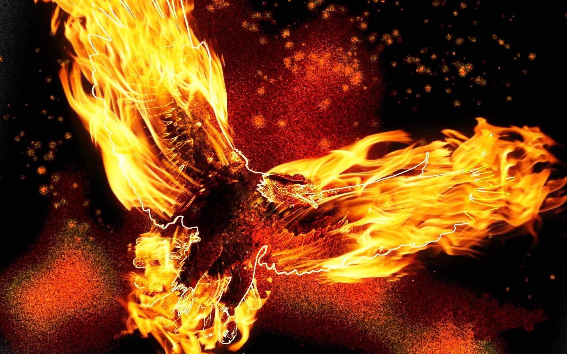 1280x800 Hd Wallpaper 3d Fire Eagle Wallpapers Hd Desktop And Mobile Backgrounds