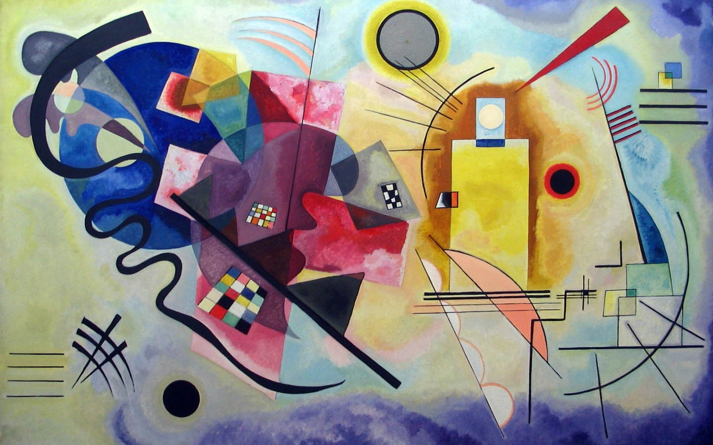Nice 3d Love Wallpaper For Mobile Wassily Kandinsky Painting Classic Art Wallpapers Hd