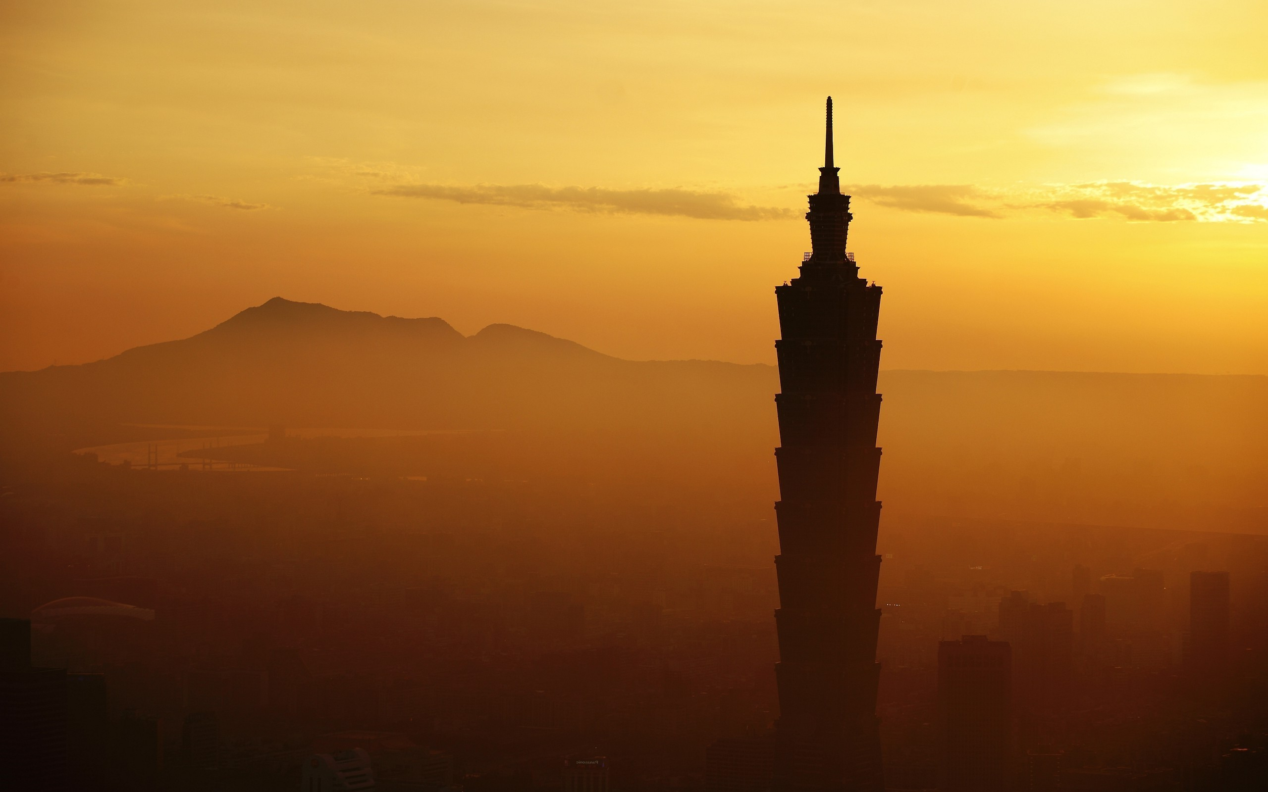 3d New Years Wallpaper Images Sunrise Taipei 101 Architecture Cityscape City