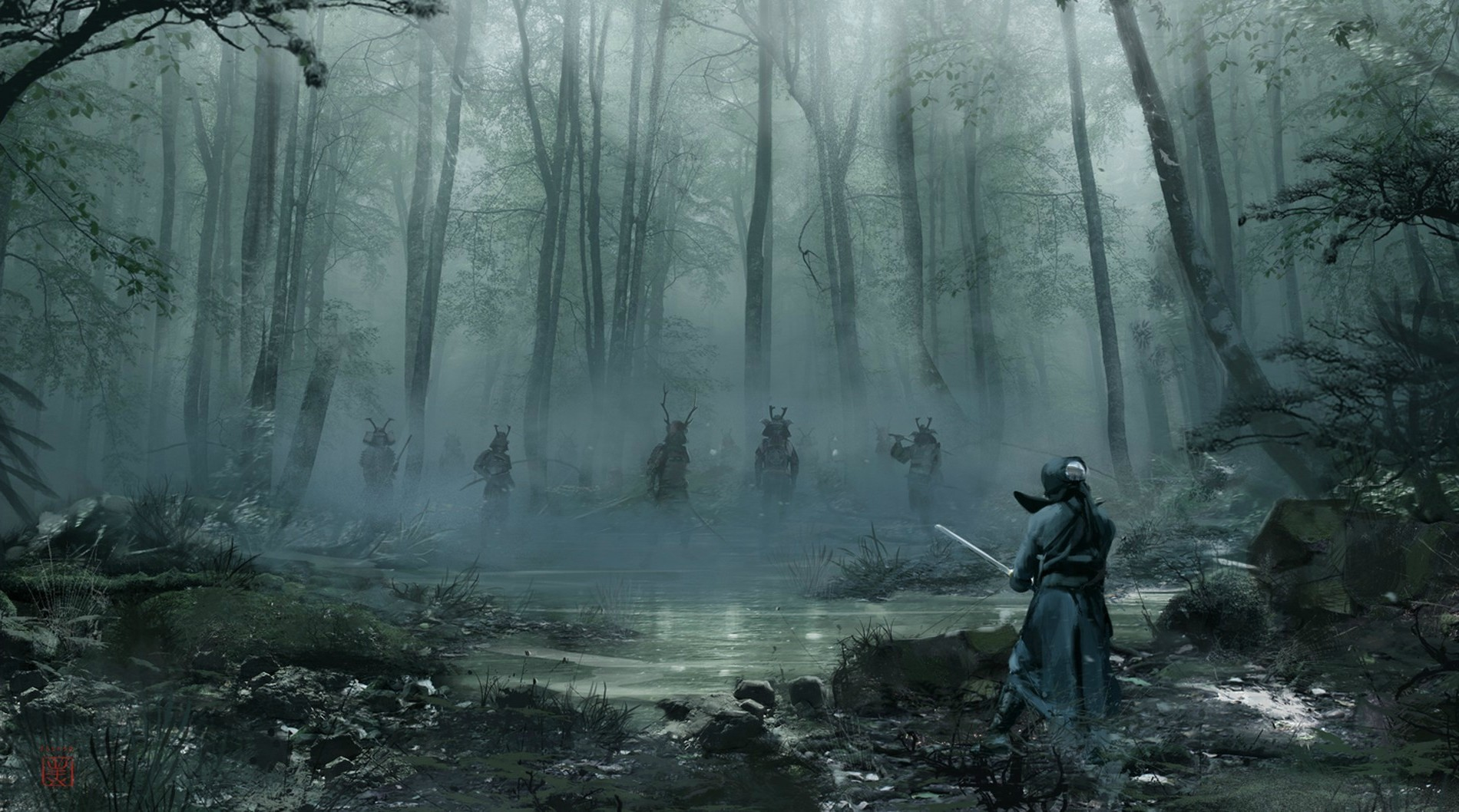 Awesome Animal Wallpapers Forest Samurai Fighting Wallpapers Hd Desktop And