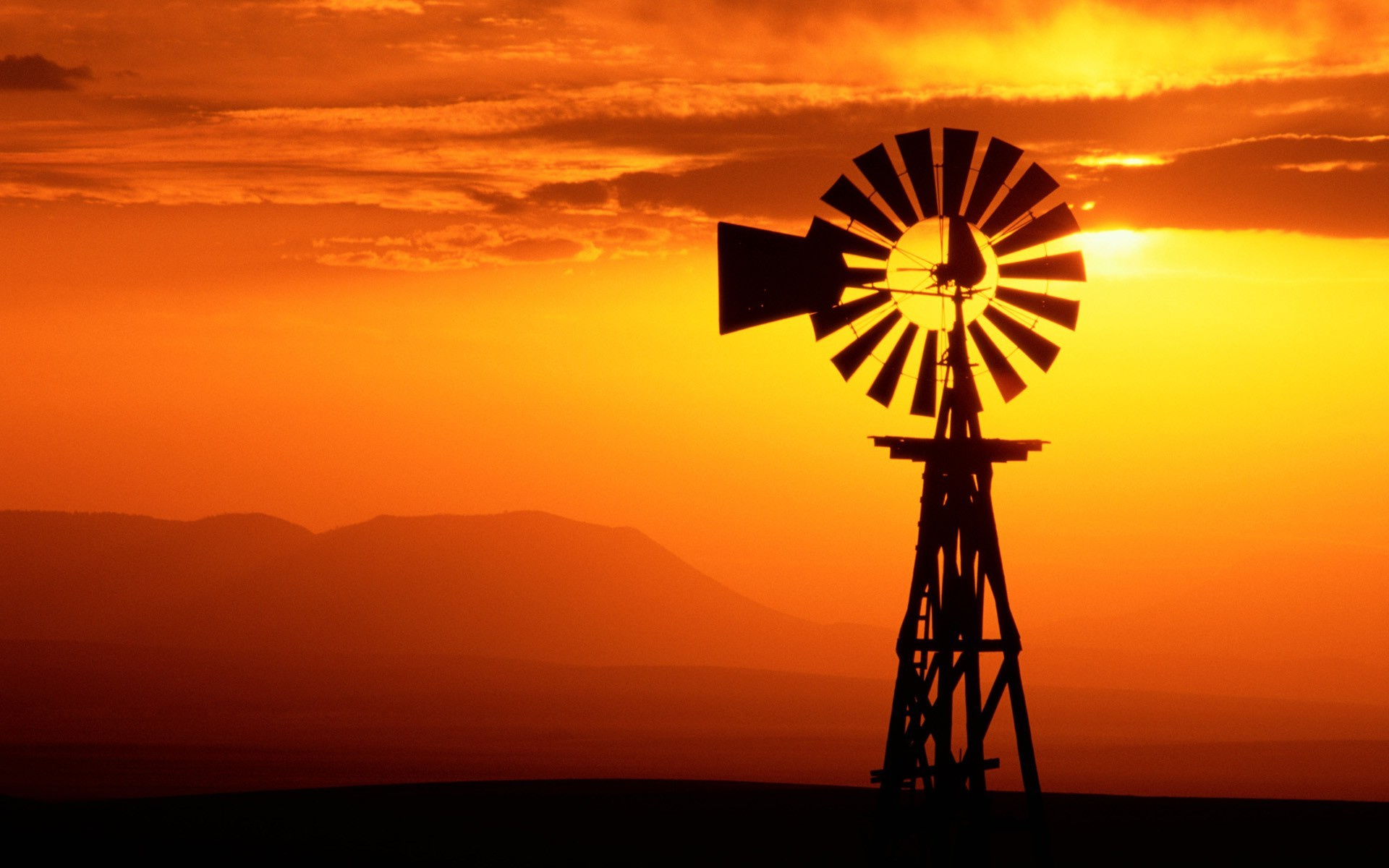 Hd Wallpaper Girls 1920x1200 Usa Silhouette Sunset Windmills Wallpapers Hd Desktop