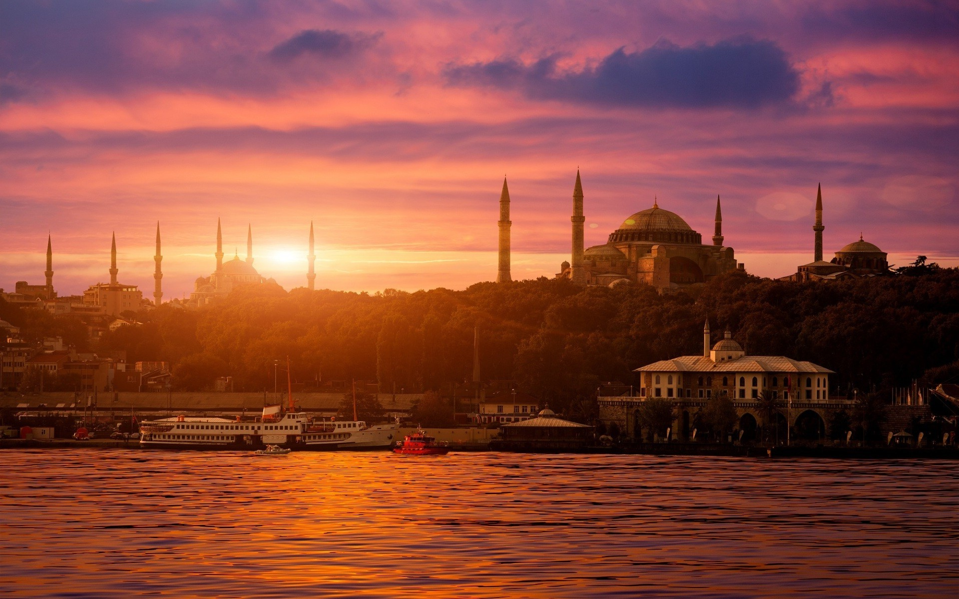 Islamic 3d Wallpapers For Pc Free Download City Cityscape Istanbul Turkey Sultan Ahmed Mosque