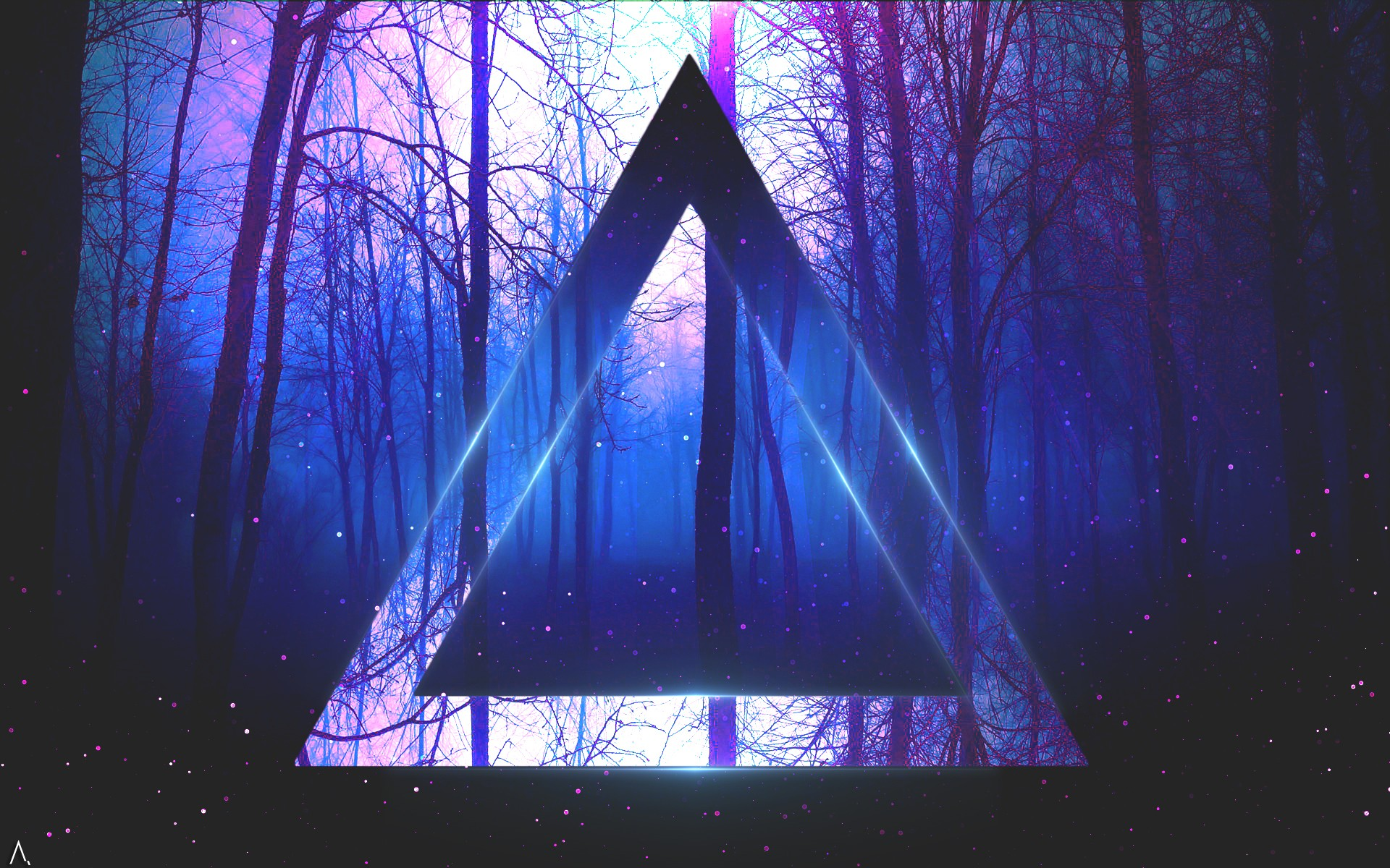 Electric Wallpaper 3d Triangle Artwork Trees Abstract Digital Art Wallpapers