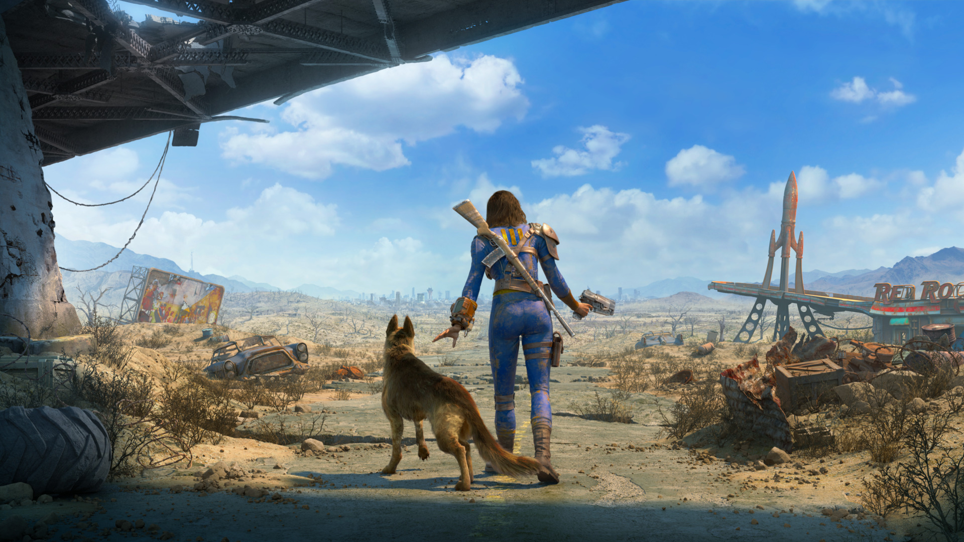 Anime Girls Wallpaper 5760x1080 Fallout 4 Dogmeat Weapon Apocalyptic Wallpapers Hd