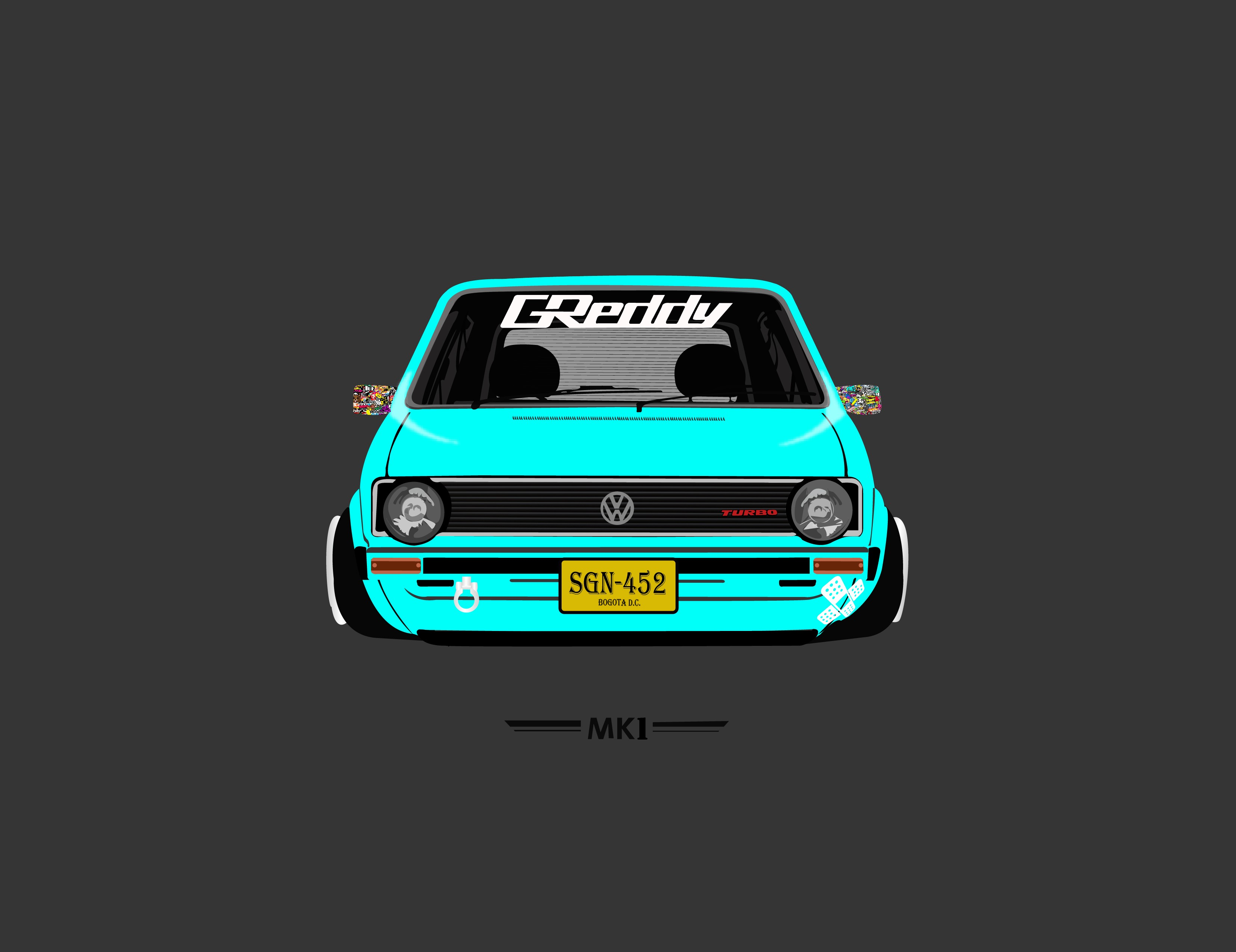 Abstract Animal Wallpaper Mk1 Volkswagen Tuning Artwork Vehicle Car Wallpapers