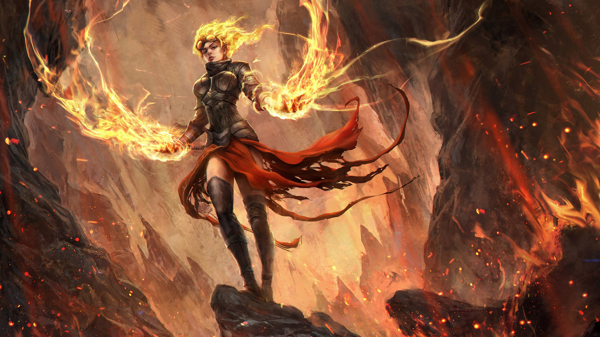 Libros De Magic The Gathering Chandra Nalaar Magic The Gathering Digital Art Fire