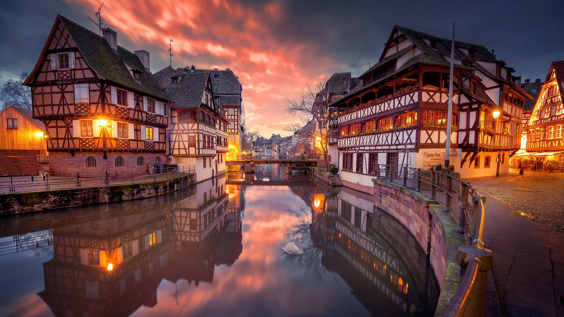 3d Hd Wallpapers For Laptop 1366x768 Architecture Building City Cityscape Strasbourg