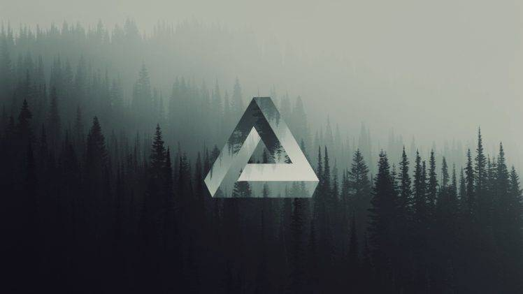 Gravity Falls Landscapes Wallpaper Triangle Geometry Forest Penrose Triangle Wallpapers Hd