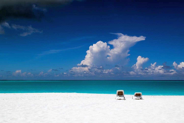 3d Dual Screen Wallpaper Nature Photography Landscape Beach Tropical Chair