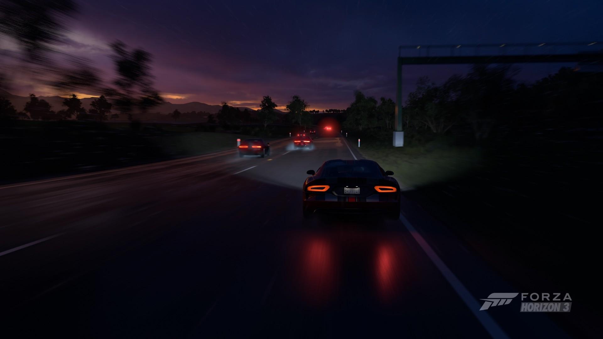 Super Cars 3d Wallpapers Forza Horizon 3 Car Supercars Sports Car Night Srt