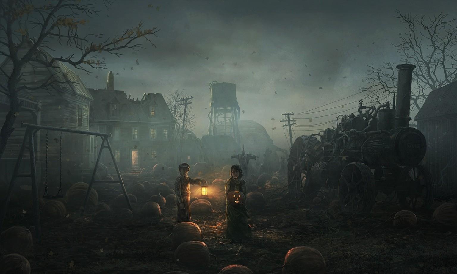 Desktop Wallpaper Full Screen Girls Halloween Spooky Wallpapers Hd Desktop And Mobile