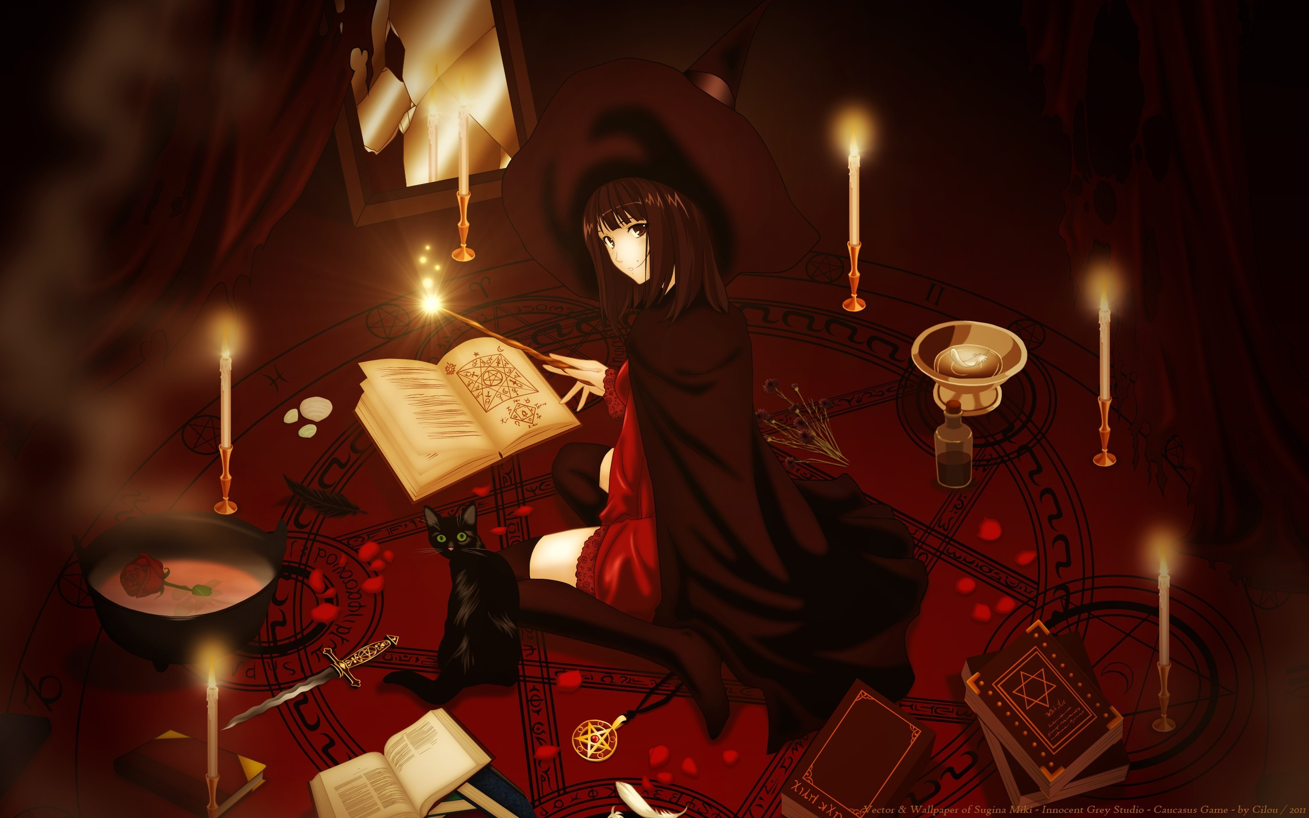 3d Fantasy Girl Wallpapers Anime Girls Witch Anime Original Characters Wallpapers