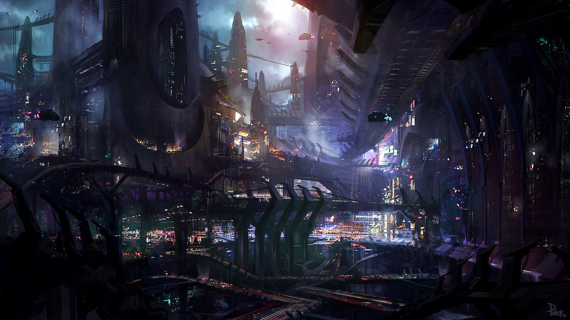 Persona 5 Girls Wallpaper Fantasy Art Science Fiction Futuristic Artwork City
