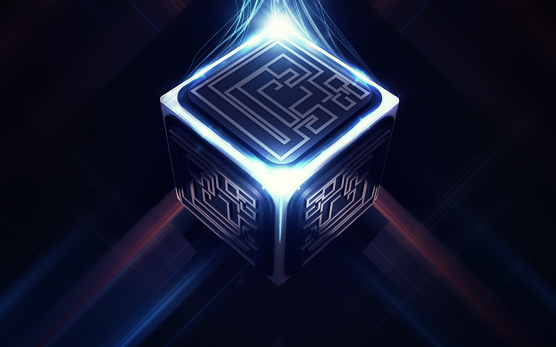 3d Cube Wallpaper Fantasy Art Digital Art Pixelated Science Fiction