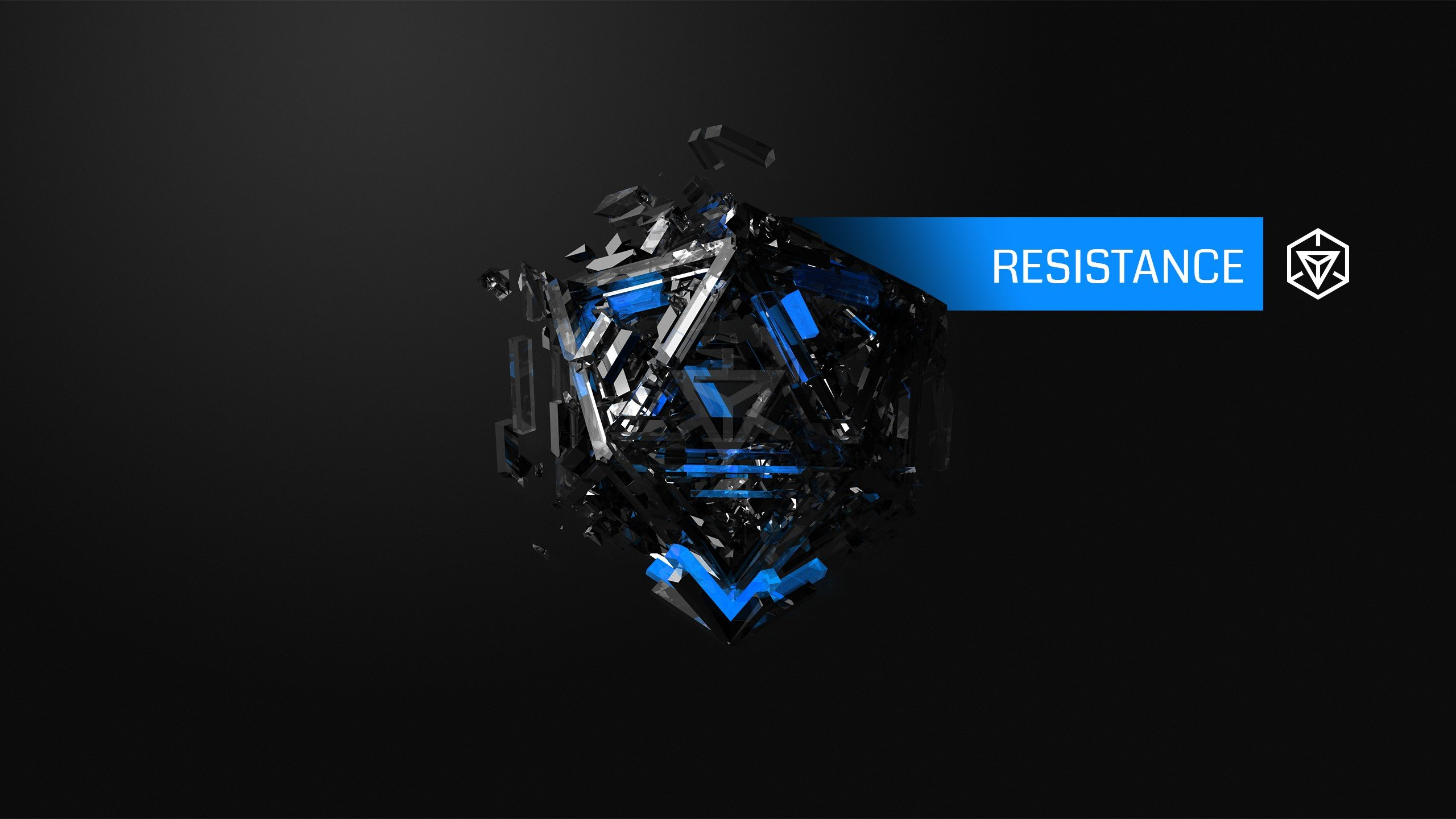 Hexagon Wallpaper 3d Hexagon Resistance Ingress Blue Justin Maller