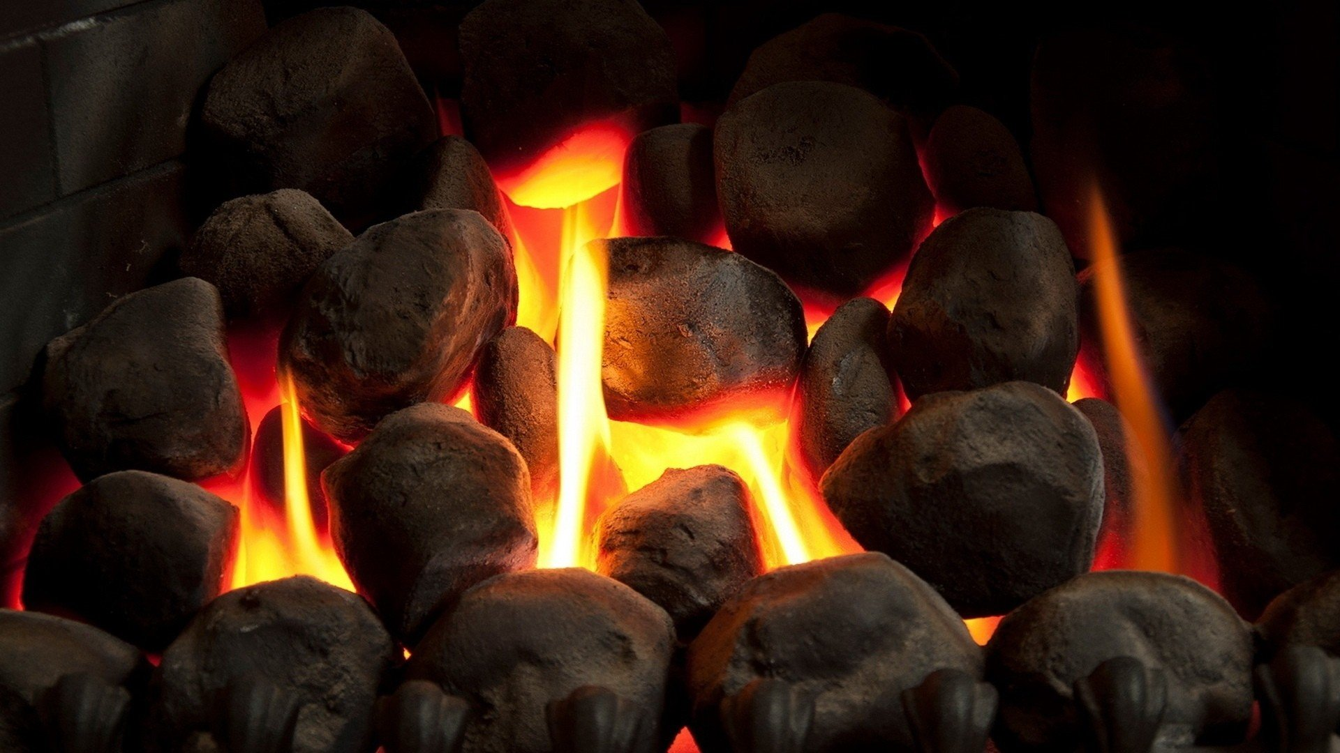 Fire Stones For Fireplace Fire Stones Fireplace Bricks Metal Long Exposure Wallpapers