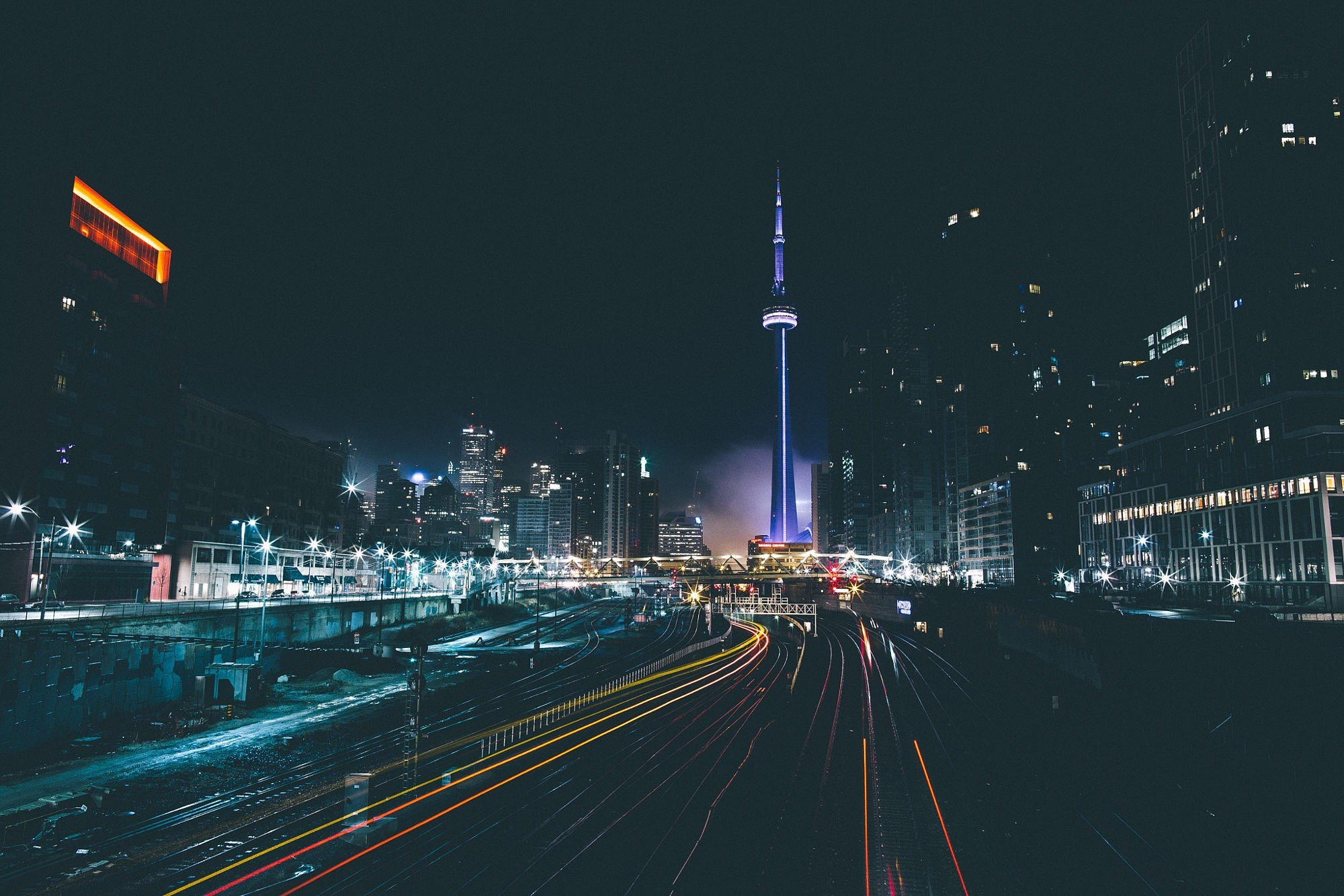 Cars Movie Hd Wallpapers 1080p Cityscape Toronto Railway Long Exposure Light Trails