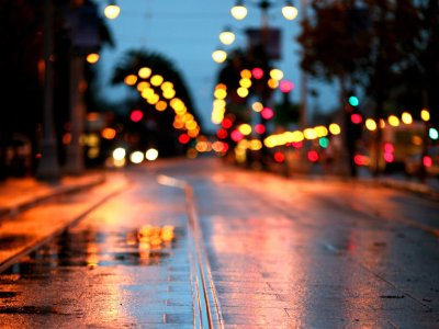 road, Rain, City, Lights Wallpapers HD / Desktop and Mobile Backgrounds