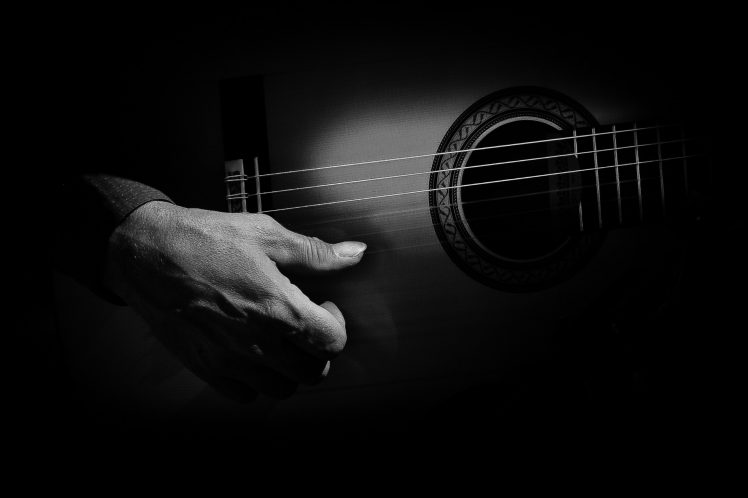 monochrome, Guitar, Music Wallpapers HD / Desktop and Mobile Backgrounds