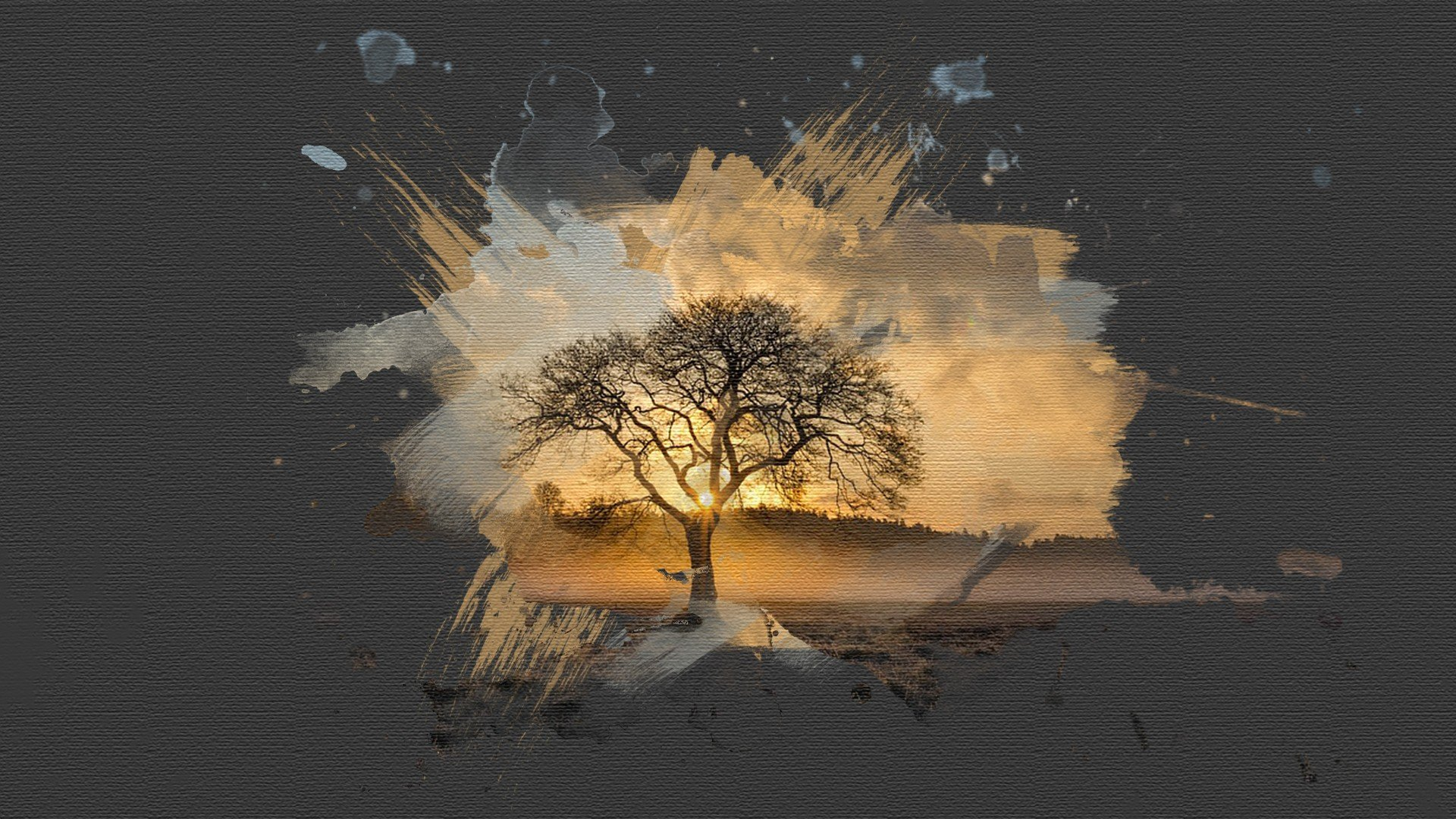 3d Love Wallpapers Download For Mobile Painting Canvas Sunset Brush Savannah Trees Paint