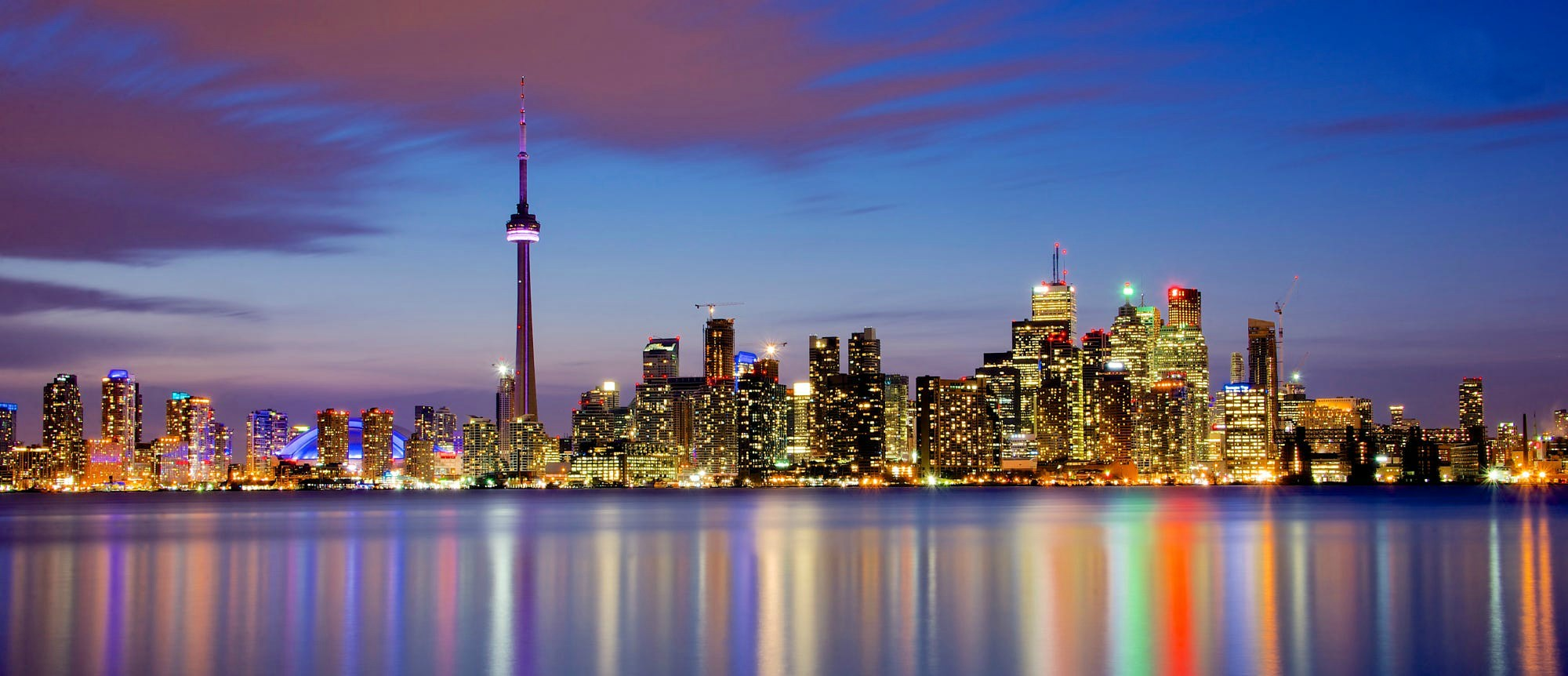 Funny Hd Animal Wallpapers Toronto City Cityscape Reflection Architecture Lights