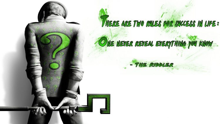 Cosmos Quotes Wallpaper The Riddler Quote Typography Batman Wallpapers Hd