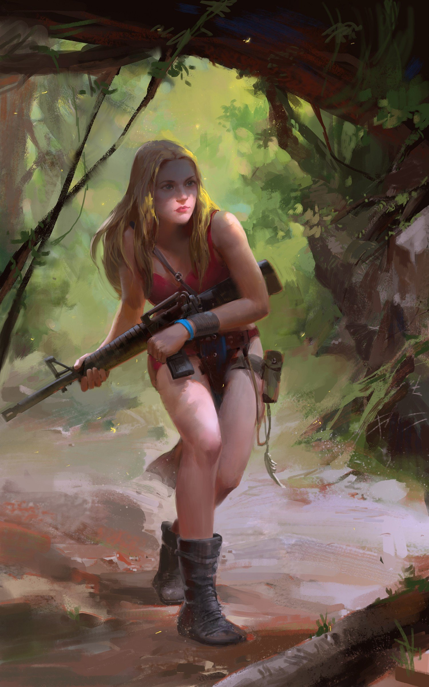 1920x1080 Girls And Guuns Wallpapers Fantasy Art Futuristic Gun Girls With Guns Wallpapers