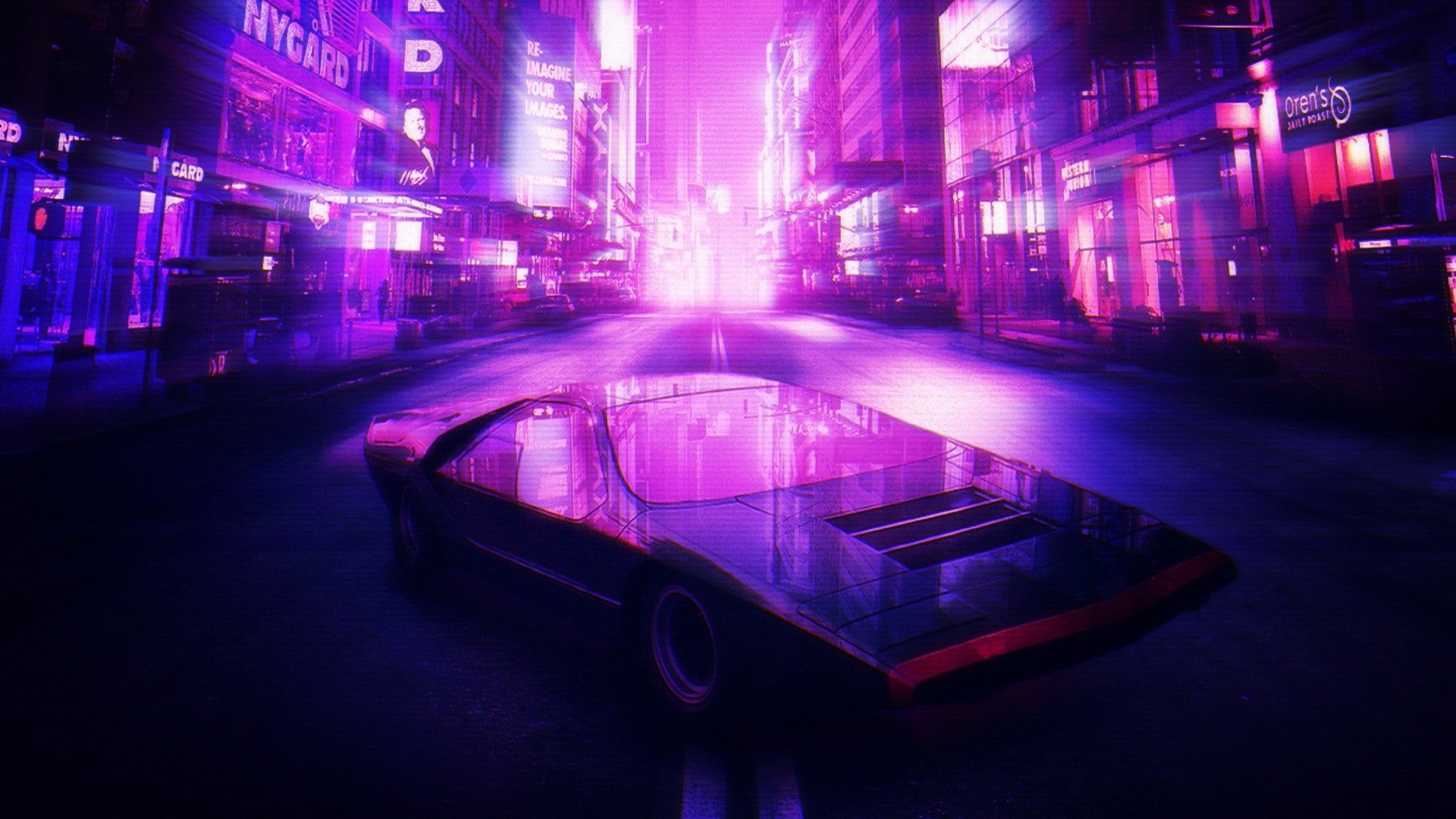 Classic Muscle Car Mobile Wallpaper Retro Style Car 1980s City Synthwave Bertone Alfa