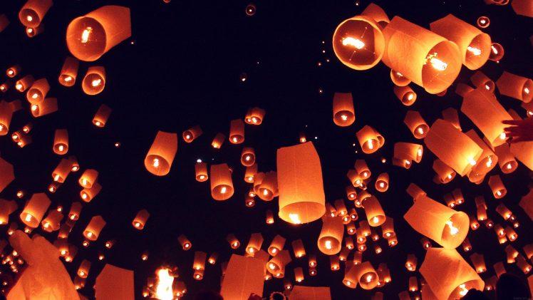Cozy Fall Hd Wallpaper Lantern Sky Lanterns Wallpapers Hd Desktop And Mobile