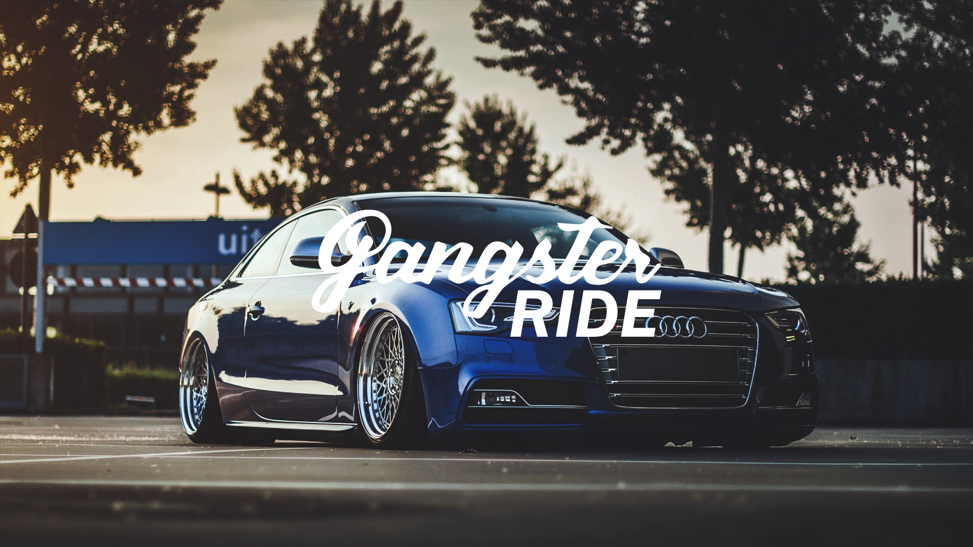 Car 5760x1080 Wallpaper Gangster Ride Car Tuning Lowrider Audi Colorful