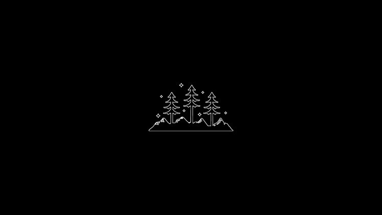 minimalism, Simple, Black background Wallpapers HD / Desktop and