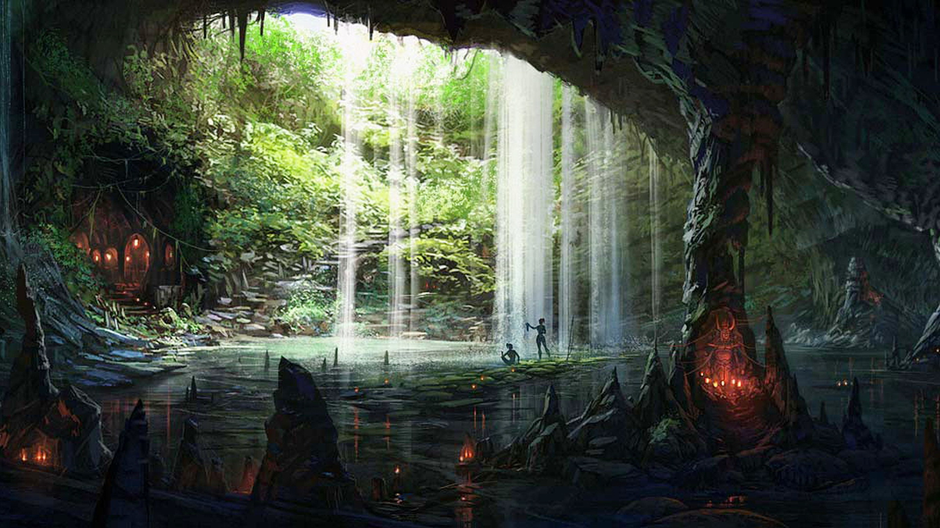 3d Forest Wallpaper Backgrounds 3d Cave Picturebook Wallpapers Hd Desktop And Mobile