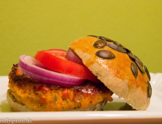 Veggie-Burger-Kürbis