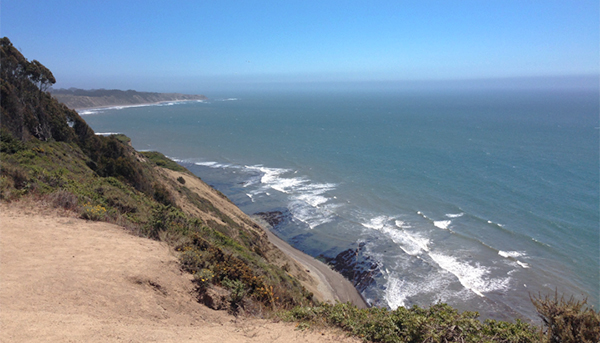 This is a view from the Pt. Reyes side of the beach, north of Bolinas, CA.
