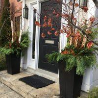 FRONT DOOR WINTER PLANTERS - Walnut Kitchen