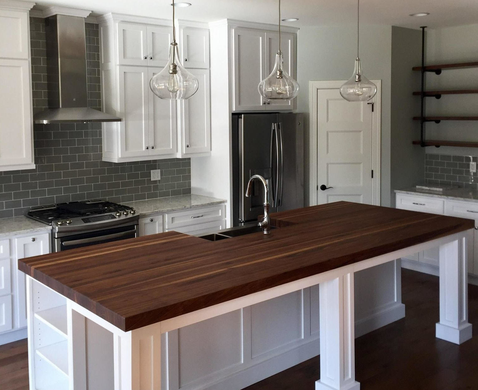 Kitchen Island Butcher Block Tops Butcher Block Countertop Custom Design Wood Counters Walnut
