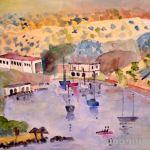 Crete. Harbour view. 1987