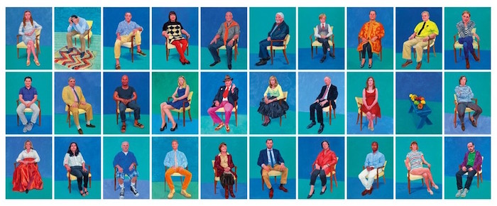 Observations on Hockneys '82 portraits and 1 still-life'.