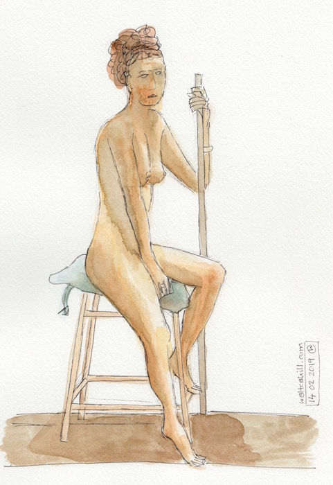 Covent Garden Life Drawing #228