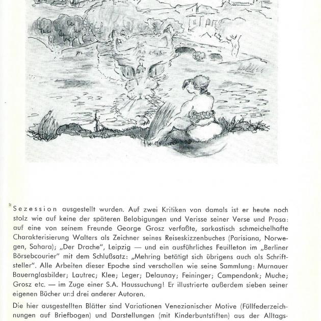 Ausstellungs-Informationsblatt von 1961