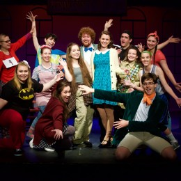 "The cast of ""25th Annual Putnam Spelling Bee"" demonstrates their goofy side."