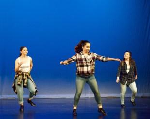 From left: Hannah Brumbach, Maddie Ridgeway and Jordan Bonney perform a tap trio.