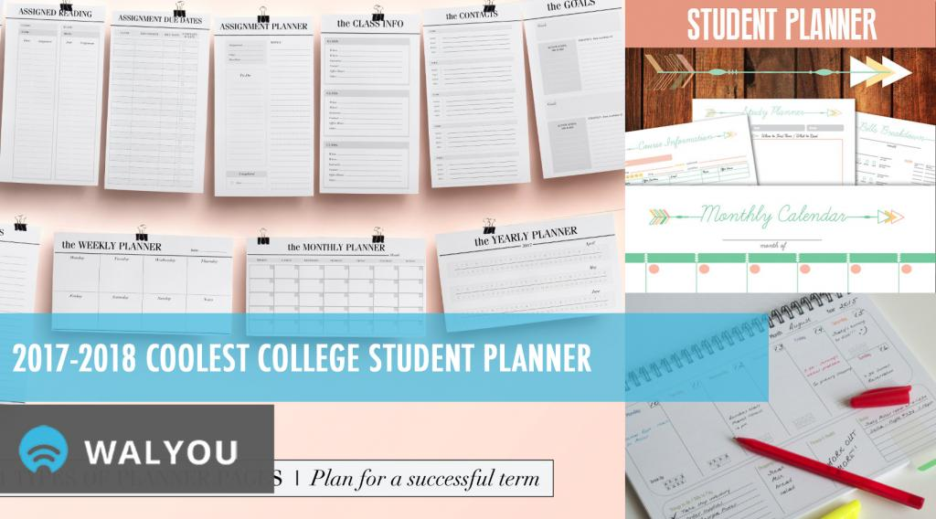 2017-2018 Coolest College Student Planner Walyou