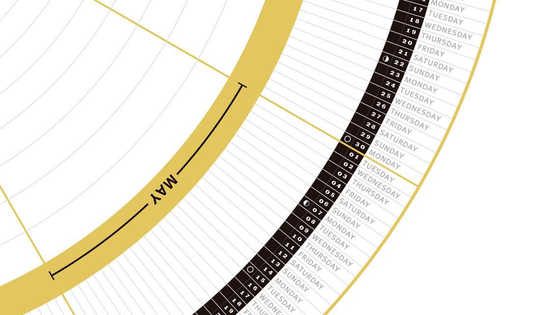 12 Coolest 2018 Wall Calendars Walyou - circular calendar