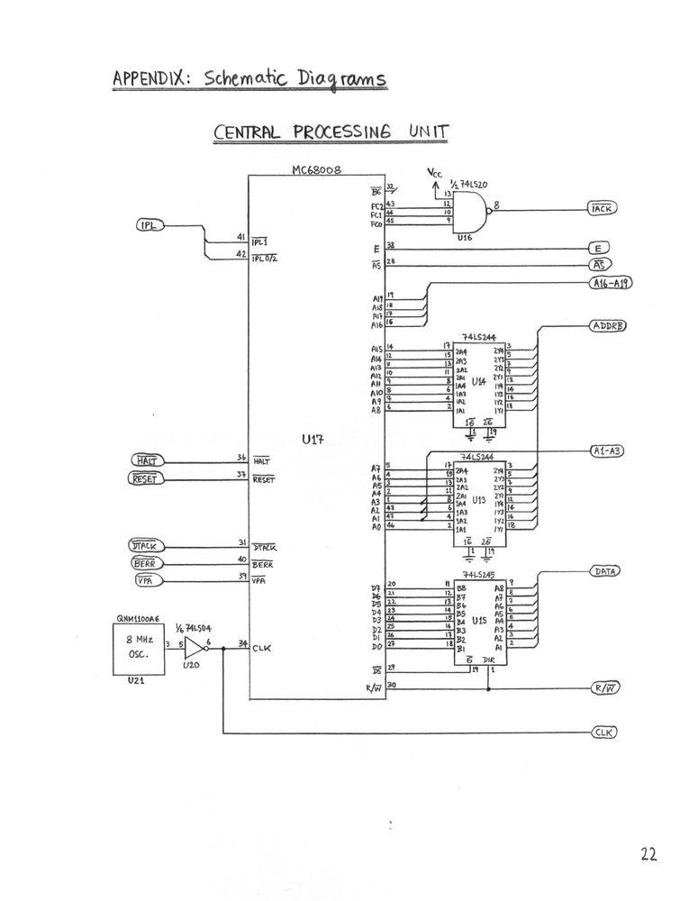 8 bit microprocessor schematic