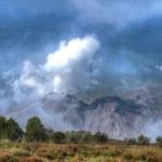 Vulkan hinter Santa Maria